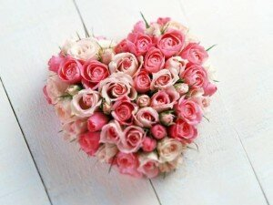 Сердечко из роз-1